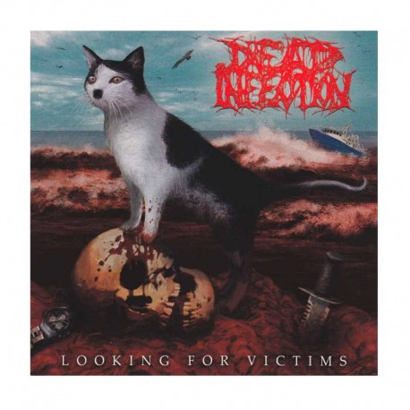 "DEAD INFECTION/PARRICIDE - Looking For Victims / The Idealist 7""  EP, Blue"
