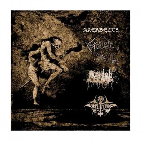 Akerbeltz / Morbid Yell / Hellthrone / Avangh Dhür - Split LP