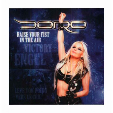 """DORO - Raise Your Fist In The Air 10"""" Clear"""