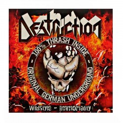 """DESTRUCTION/TANKARD – Wildstyle - Immortality / Fooled By Your Guts 7"""" RED"""
