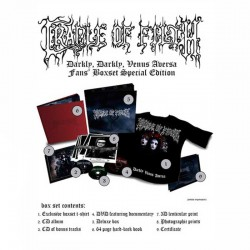 CRADLE OF FILTH-Darkly Darkly Venus Aversa Fans Edition (2CD+DVD+Libro+Camiseta T/L)