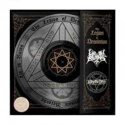 "LIE IN RUINS/PURGATORY - The Legion Of Desolation 12"" Ultraclear Vinyl, EP, Ltd. Ed. Split"