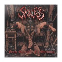 SKINLESS - From Sacrifice To Survival LP Orange Vinyl, Ltd. Ed. Hand-numbered