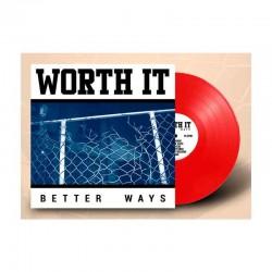 WORTH IT - Better Ways LP Vinilo Red Transparente